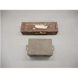 105 HOWITZER AMMO CARRIER AND AMMO TIN