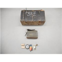 US MILITARY AMMO TIN AND CRATE