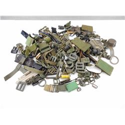 ASSORTED MILITARY BUCKLES, AND BELT LOOPS