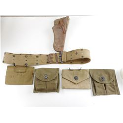 US HOLSTER, BELT AND AMMO POUCHES