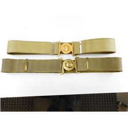 CANADIAN MILITARY BELTS WITH BELT BUCKLES