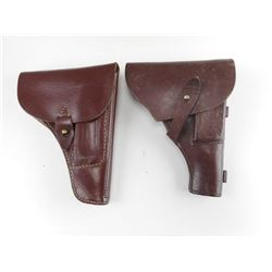 MILITARY TYPE BROWN HOLSTERS