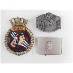 US/ITALY MILITARY ARMY BELT BUCKLES AND PLAQUE