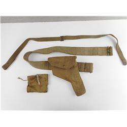 WWII CANADIAN P37 HOLSTER WITH BELT