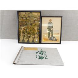 QUEENS OWN RIFLES ARTWORK AND CLIPBOARD