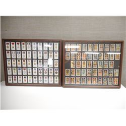 FRAMED PHOTO'S OF VARIOUS WWI/WWII MEDALS AND BADGES