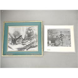 ASSORTED WWII ARTWORK/PHOTO