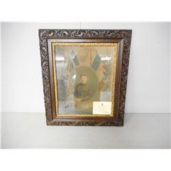 WWI FRAMED ARTISTIC PHOTO OF PTE. BLAIR EVERETT EDWARD