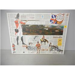 THE BRITISH RED COAT 1775-1783 WOODEN NEWSPAPER PRINT