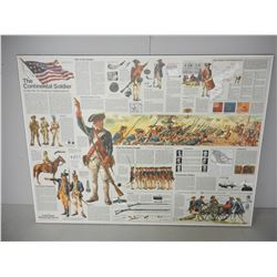 THE CONTINENTAL SOLDIER WOODEN NEWSPAPER