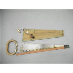 CANADIAN MILITARY CASE WITH SAW