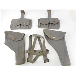 WWII CANADIAN RCAF REVOLVER HOLSTERS WEBBING