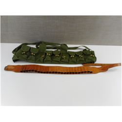 CHINESE SKS BANDOLIER AND AMMO POUCH