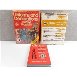 ASSORTED WWI/WWII GERMAN BOOKS