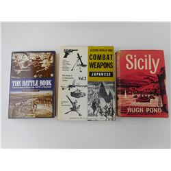 ASSORTED MILITARY BOOKS OF WAR AND WEAPONS