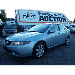 B1 --  2004 ACURA TSX , Silver , 257459  KM's