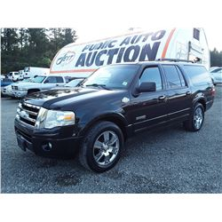 H2 --  2008 FORD EXPEDITION EL , Black , 291653  KM's