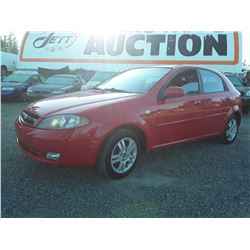 C4 --  2006 CHEVROLET OPTRA 5 LT , Red , 164695  KM's