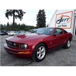 C6D --  2008 FORD MUSTANG , Red , 136332  KM's