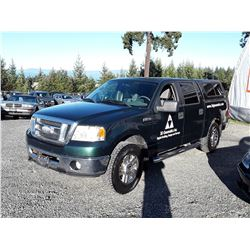 G1 --  2007 FORD F150 CREW CAB , Green , 282399  KM's