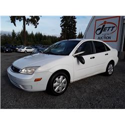 L4 --  2007 FORD FOCUS ZX4  , White , 204117  KM's