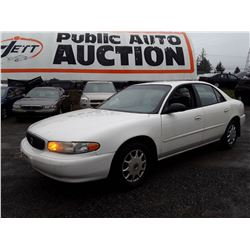 "A9 --  2003 BUICK CENTURY CUSTOM , White , 162,147 MILES ""NO RESERVE"""
