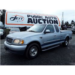 "A12A --  2000 FORD F150 XLT EXT CAB , Silver , 327188  KM's ""NO RESERVE"""