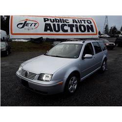 B3 --  2004 VW JETTA GLS TDI  , Silver , 207295  KM's