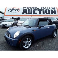 C6A --  2005 MINI COOPER CONVERTIBLE , Blue , 147335  KM's