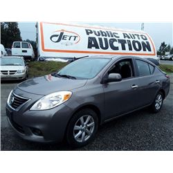 A1 --  2012 NISSAN VERSA S, BROWN, 161,943 KMS