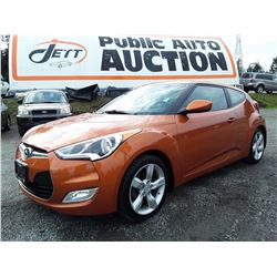 E2 --  2014 HYUNDAI VELOSTER , Orange , 164278  KM's