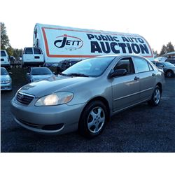 N2 --  2006 TOYOTA  COROLLA CE  , Brown , 299,999 KMS ODO STOPPED