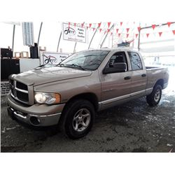 "A12 --  2003 DODGE RAM 1500 ST  , Brown , 216005  KM's ""NO RESERVE"""