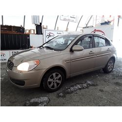 B2 --  2009 HYUNDAI ACCENT GLS  , Brown , 179560  KM's