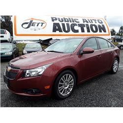 "A3 --  2012 CHEVROLET CRUZE ECO, RED, 159,638 KMS ""NO RESERVE"""