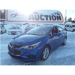 B6 --  2017 CHEVROLET CRUSE LT  , Blue , 47005  KM's