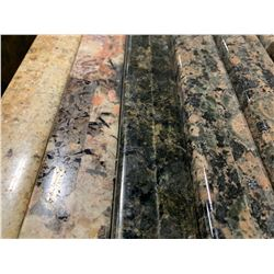 APPROX. 8' X 3' FOREST GREEN GRANITE COUNTER TOP SLAB