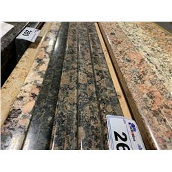 APPROX. 6' X 3' ROSE FLECKED BLACK GRANITE COUNTER TOP SLAB