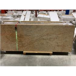 APPROX. 8' X 3' WHITE SAND GRANITE COUNTER TOP SLAB