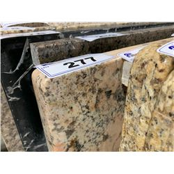 APPROX. 8' X 3' SALMON ROSE FLECKED GRANITE COUNTER TOP SLAB