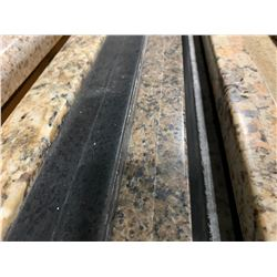 APPROX. 8' X 3' ROSE FLECKED CHARCOAL GRANITE COUNTER TOP SLAB
