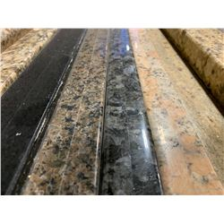 APPROX. 8' X 3' BLACK ONYX GRANITE COUNTER TOP SLAB WITH NOTCH