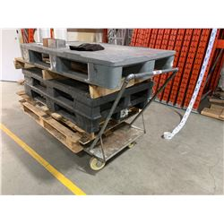 GREY HEAVY DUTY 6' X 3' WAREHOUSE CART
