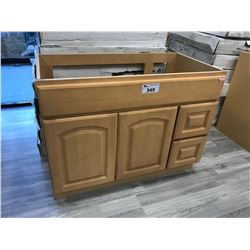 MAPLE  36  W X 21  D X 32  T VANITY WITH RIGHT HAND DRAWERS, MODEL: VA3621DR-32 (DISPLAY MODEL)
