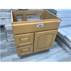"""MAPLE"" 30"" W X 21"" D X 32"" T VANITY WITH LEFT HAND DRAWERS, MODEL: VA3021DL-32 (DISPLAY MODEL)"