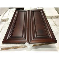 "11 PIECE ""CHERRY"" KITCHEN CABINET SET INC. 5 BOTTOM CABINETS, 6 TOP CABINETS, 2 DOOR PANTRY UNIT"