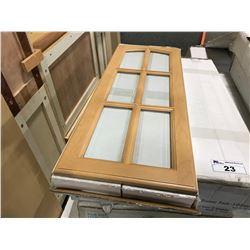 """15 PIECE """"MAPLE"""" KITCHEN CABINET SET INC. 6 BOTTOM CABINETS, 5 TOP CABINETS, OVEN CABINET,"""