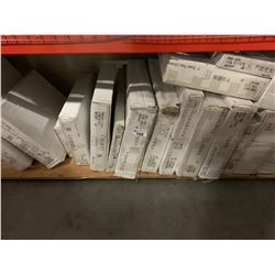 "SHELF LOT OF ""FLAT POND OAK"" AND ASSORTED KITCHEN CABINETS"