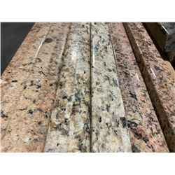 APPROX. 8' X 3' BEIGE FLECKED GRANITE COUNTER TOP SLAB