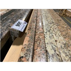APPROX. 8' X 3' ROSE FLECKED GRANITE COUNTER TOP SLAB